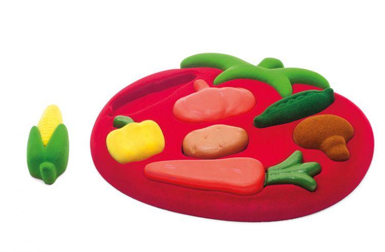 Rubbabu - Sorter Sensoryczny Puzzle 3D Warzywa