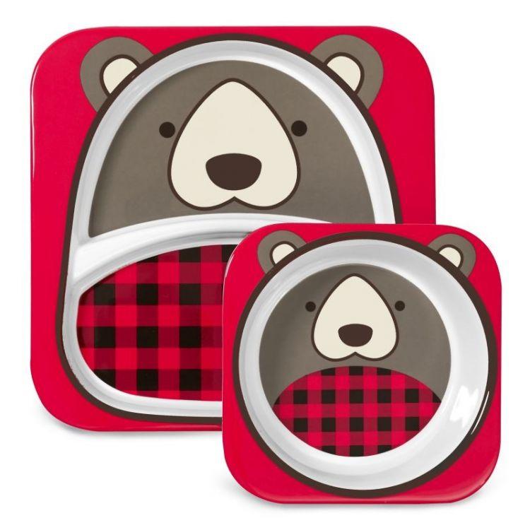 Skip Hop - Zestaw Obiadowy Zoo Winter Niedźwiadek