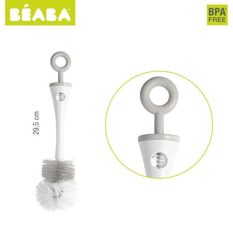 Beaba - Szczotka do Butelek i Smoczków Grey