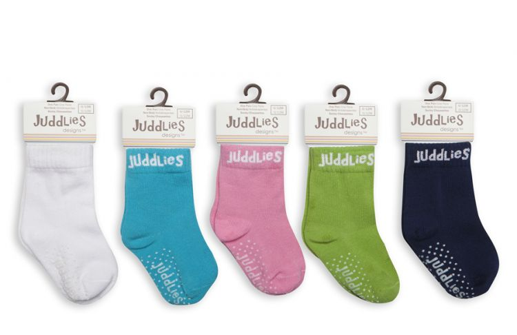 Juddlies - Skarpetki White/Purple 0-12m