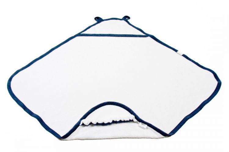 Poofi - Bawełniany Ręcznik z Kapturkiem Granatowy