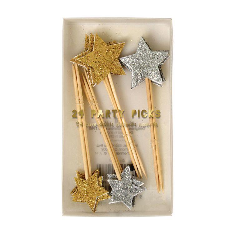 Meri Meri - Zestaw Dekoracji Gold & Silver Glitter