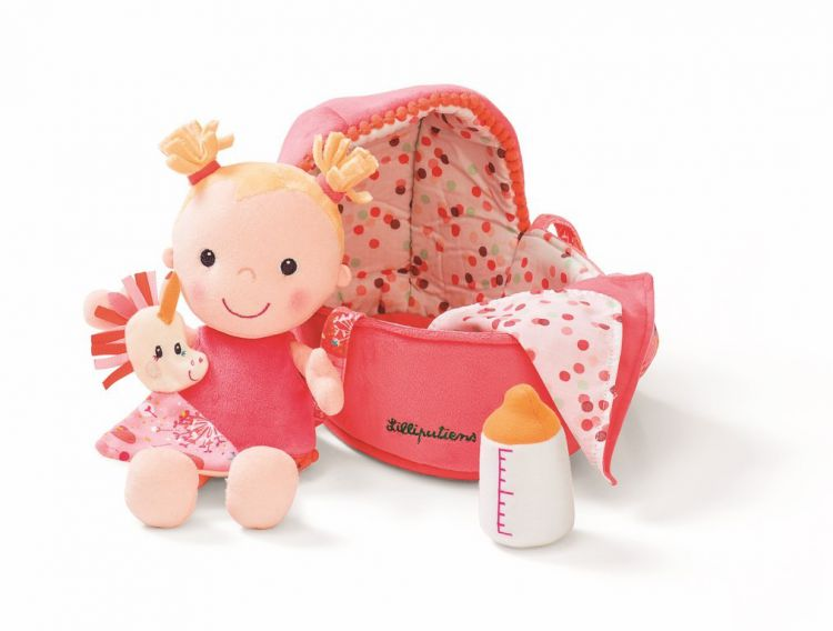 Lilliputiens - Szmaciana Lalka w Nosidle Baby Louise