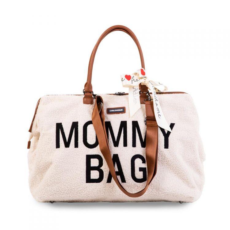 Childhome - Torba Mommy Bag Teddy Bear White (Limited Edition)