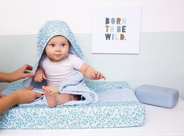 Bebe-Jou -  Ręcznik z Kapturkiem Leopard Blue 85x75cm