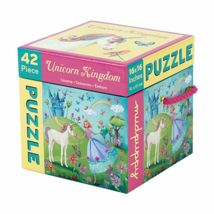Mudpuppy - Puzzle w Pudełku 42 Elementy Jednorożec