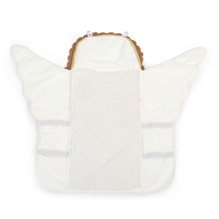 Childhome - Mata do Przewijania Angel Jersey Crochet Ecru