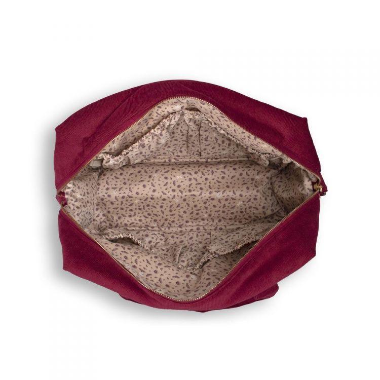 Filibabba - Torba Nursing Bag Sztruks Deeply Red