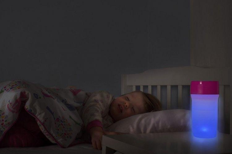 LiteCup - Świecący Kubeczek Niekapek Błękitny