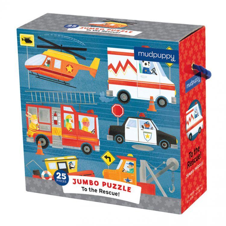 Mudpuppy - Puzzle Jumbo 25 Elementów Potężne Na Ratunek!
