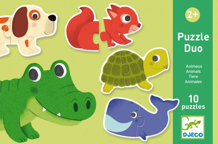 Djeco - Puzzle Duo Zwierzątka 2+