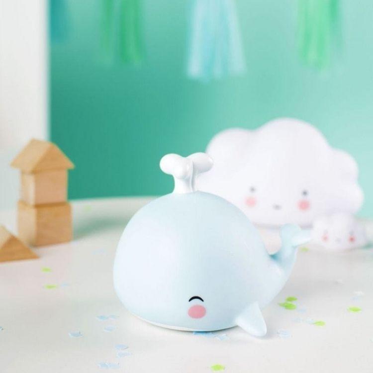 Little Lovely Company - Mała Lampka Wieloryb