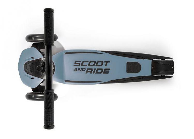 Scootandride - Highwaykick 5 LED Hulajnoga Trójkołowa Balansowa ze Świecącymi Kółkami 5+ Steel