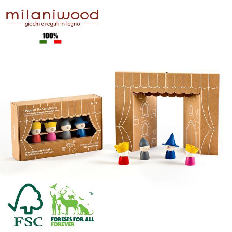 Milaniwood - Drewniany The Storytellers Teatrzyk Kukiełkowy Królestwo