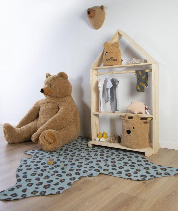 Childhome - Pluszowy Pojemnik na Zabawki 30 x 30 x 30 cm Teddy Bear
