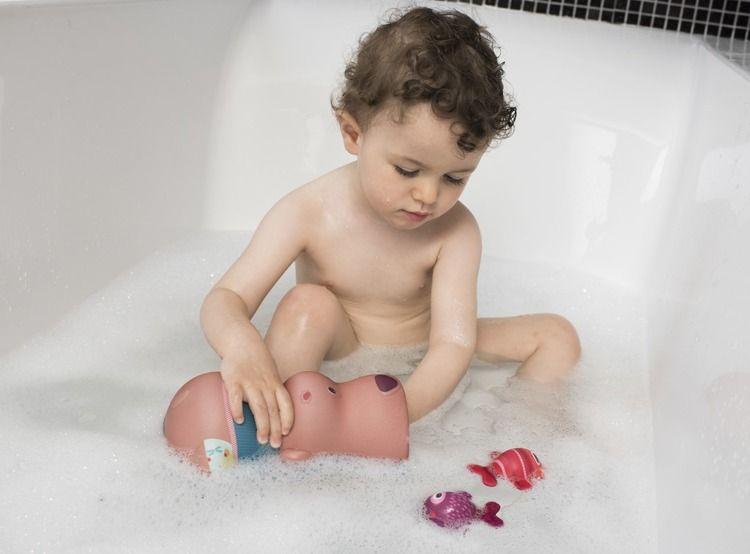Lilliputiens - Zabawki do Wody Miś Cesar i Rybki z Neoprenu Bath Time Fish