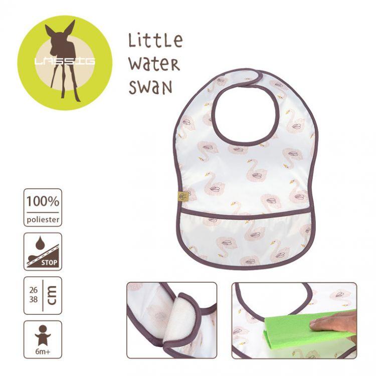 Lassig - Lekki Śliniak Wodoodporny Little Water Łabędź 6m+