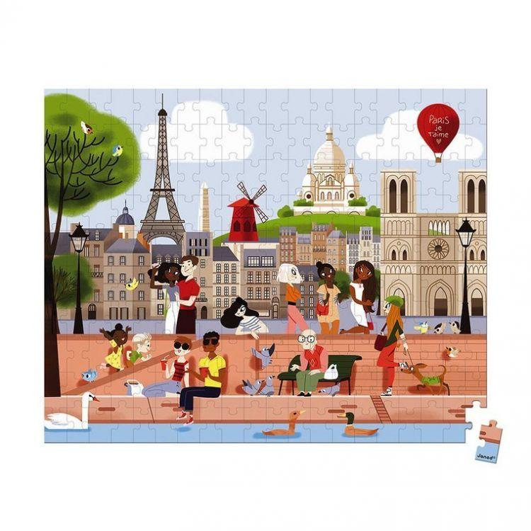 Janod - Puzzle w Walizce Paryż 200 Elementów 7+