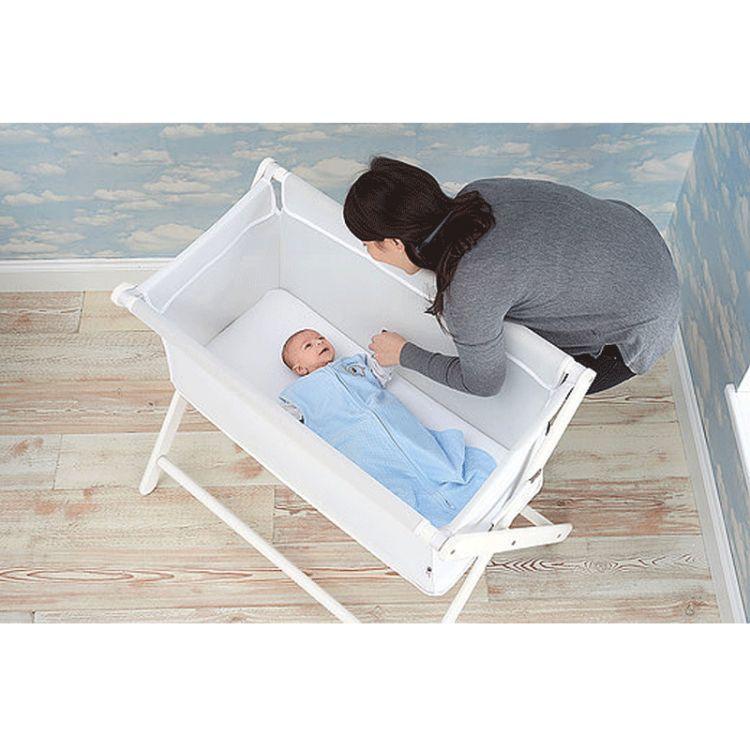 Little Chick London - Oddychające Łóżeczko Dostawne Crib Warm Grey