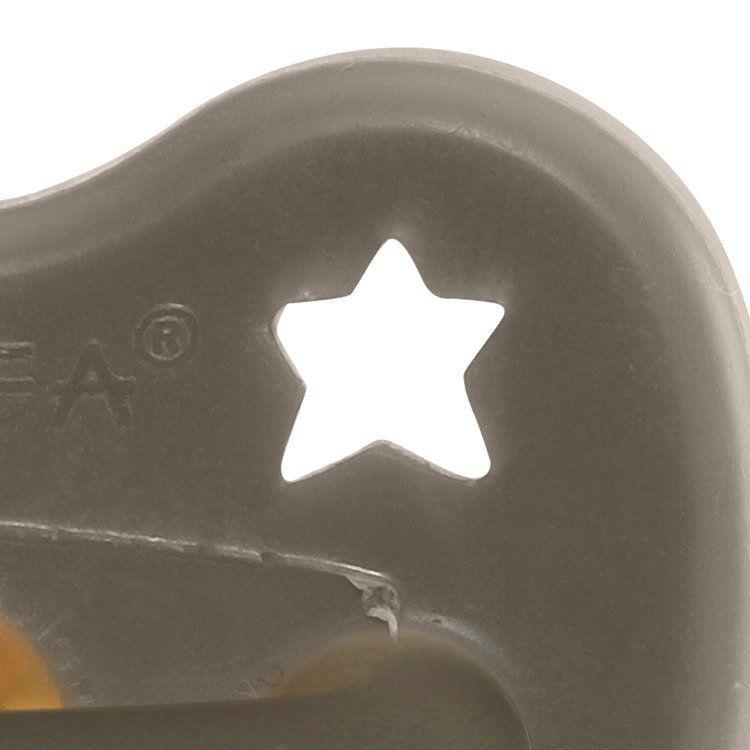 Hevea - Smoczek Anatomiczny Kauczukowy Shiitake Grey 0-3m
