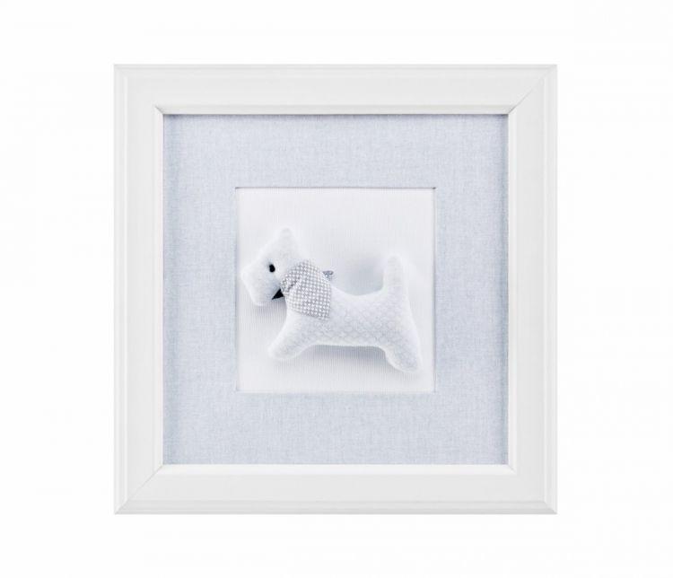 Caramella - Obrazek Pure Grey z Pieskiem z Chustką