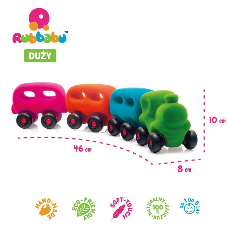Rubbabu - Sensoryczny Pociąg z 3 Magnetycznymi Wagonami