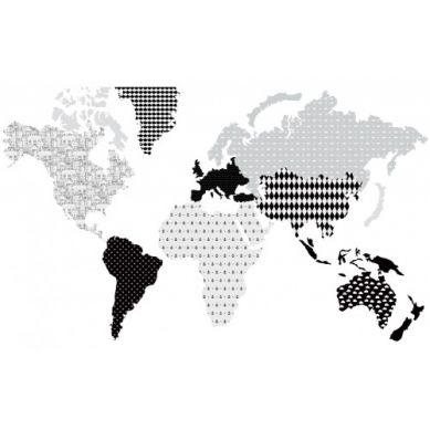 Dekornik - Naklejki Ścienne Mapa 3 Czarno-Biała L