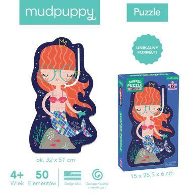 Mudpuppy - Puzzle w Kształcie Postaci Syrenka 50 Elementów 4+