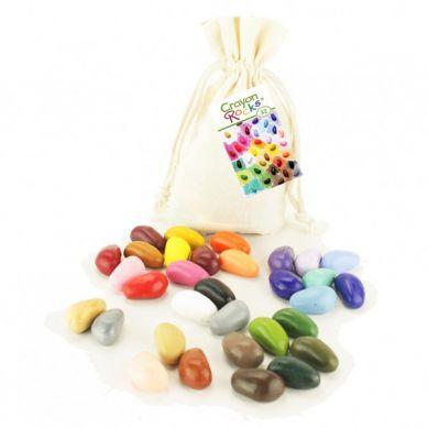 Crayon Rocks - Kredki 32 Kolory w Bawełnianym Woreczku