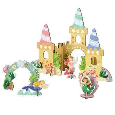 Petit Collage - Puzzle Przestrzenne Syrenki  z Zamku