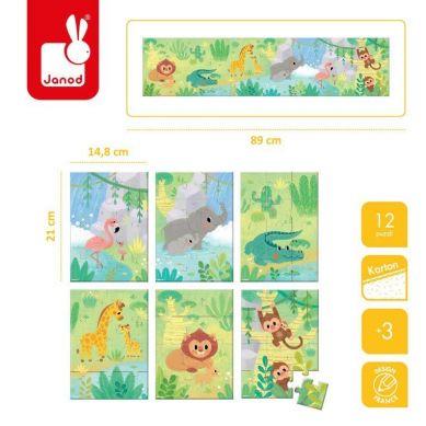Janod - Mini Puzzle Zwierzątka 3+