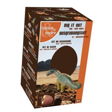 Bones&More - Duża Figurka Dinozaura Wykopalisko z Jajka 10 cm