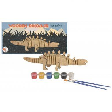 Egmont Toys - Drewniany Dinozaur do Pomalowania 3+