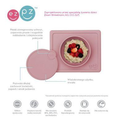 EZPZ - Silikonowa Pokrywka do Miseczki Mini Bowl Pastelowy Róż
