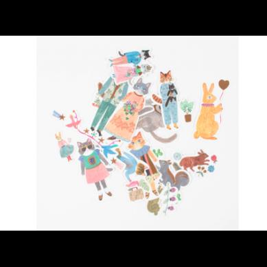 Djeco - Zestaw 50 Naklejek Aiko