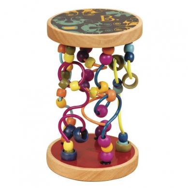 B. Toys - Kolorowe Drewniane Paciorki na Powykręcanych Drążkach