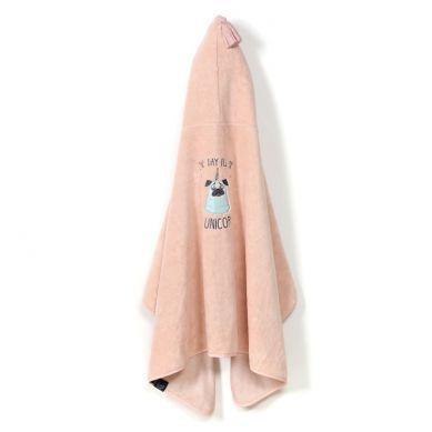 La Millou - Ręcznik Kąpielowy Bamboo Kid Powder Pink Doggy Unicorn