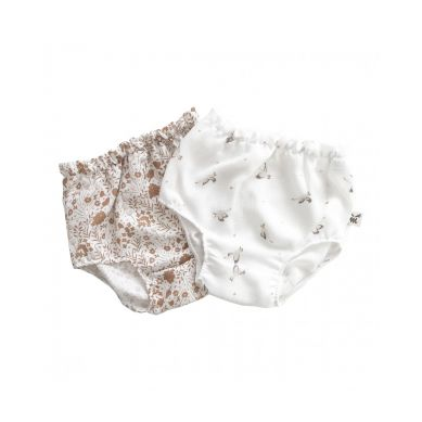 Malomi Kids - Bloomers Set Goose&Caramel Meadow M