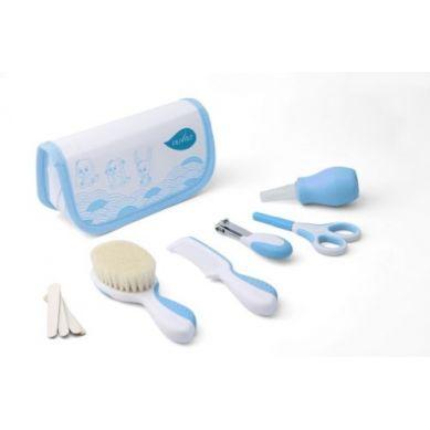 Nuvita - Zestaw Akcesoriów do Pielęgnacji Dziecka w Kosmetyczce Blue