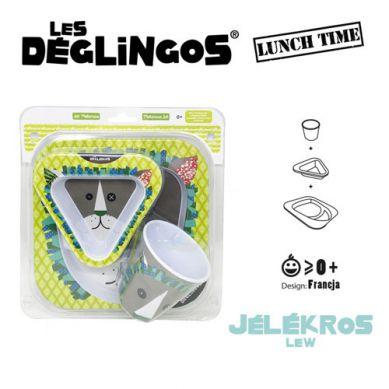 Les Deglingos - Zestaw 3 cześciowy z Melaminy Lew Jelekros