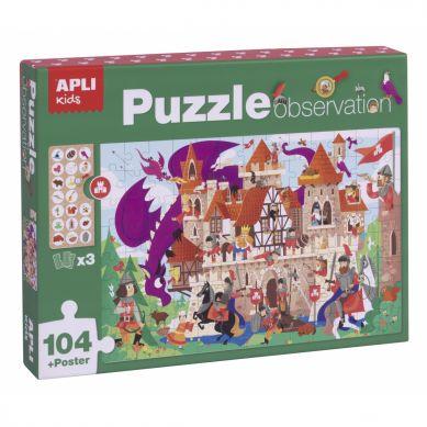 Apli Kids - Puzzle Obserwacyjne Zamek 104 el. 5+