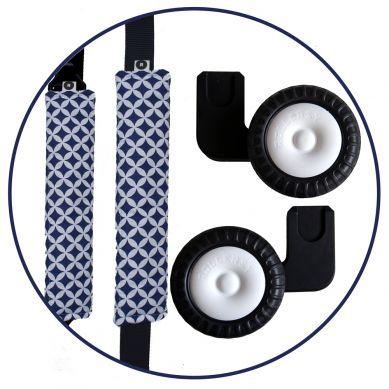 Rollersy - Adaptery z Kółkami do Fotelika Samochodowego Granat