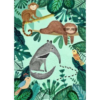 Petit Monkey - Pocztówka/Kartka na Życzenia Anteater and Slow