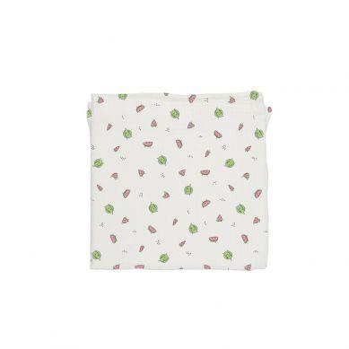 Baby Bites - Pieluszka Muślinowa 120x120 cm Watermelons White