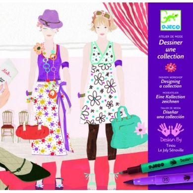 Djeco - Zestaw Artystyczny do Stworzenia Własnej Kolekcji Mody