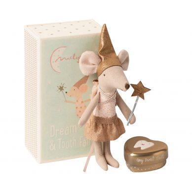 Maileg - Przytulanka Myszka Tooth fairy mouse in matchbox, Big sister