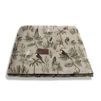 Sleepee - Otulacz Bambusowy Jungle Khaki 3 w 1 Chusta, Otulacz i Kocyk