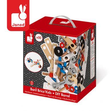 Janod - Zestaw Konstruktora 50 Elementów Brico Kids Kolekcja 2018