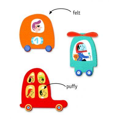 Djeco - Zestaw Naklejek Kocham Samochody