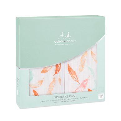 aden+ anais - Śpiworek Bambusowy Muślinowy Petal Blooms Feathers XL